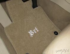 CRYSTALL!ZED Car Floor Mats - NON-Rubber lloyd mats custom personalized  CRYSTALL!ZED by Bri Swarovski Crystal Bedazzling Bling Shop
