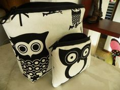SaleOwls Large zipper Cosmetic/accessory by teniamariecreations, $15.99