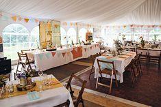 retro style marquee wedding  | onefabday.com