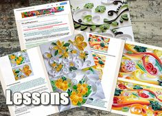 Three Quilling Lessons Graphic quilling Digital lessons Demo PDF Art Tutorial booklet Digital Book Tutorial Handmade