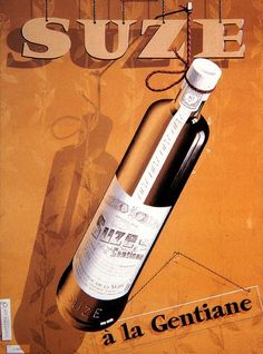 Atelier_paul_gabor_007 Vintage Advertising Posters, Vintage Advertisements, Design Typo, Alcoholic Drinks, Cocktails, Retro, Bottle, French, Beverage