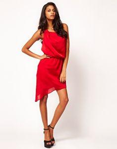 ASOS | ASOS One Shoulder Dress with Drape at ASOS