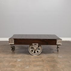 Why are all the things I love thousands of dollars? Industrial Cart Coffee Table made by Teva Furniture.