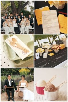 school-inspired wedd