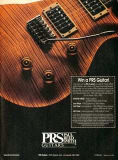 PRS Guitars Promo Ad - Paul Reed Smith Guitar Ad - Music Print Ad - Paper Ephemera - Music Gift - 1990s Print Advertisement - Music Gift by MusicSellerz on Etsy