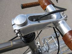 stem cap - light switch detail / Rene Herse Bicycles