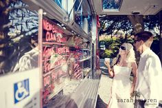 We did a Food truck Wedding for Cat & Colin with Sam's Chowdermobile at Villa Montara in Half Moon Bay - shot by the ever amazing Sarah Maren