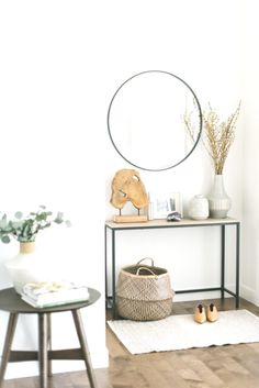 3 Ways to Use a Small Side Table 3 Ways to Use a Small Side Table — 204 PARK hallway table Small Entryways, Small Hallways, Modern Entryway, Entryway Decor, Entryway Ideas, Entrance Table Decor, Console Table Decor, Side Table Decor, Foyer