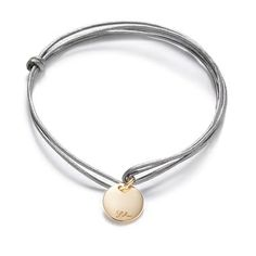 Mini medal on leather silver string  17£ #bracelet #lessthan25 #medal #leather #jewellery #string #christmas #present