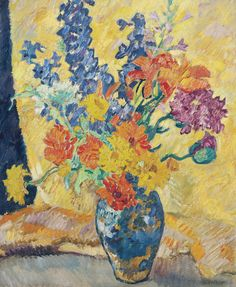 Bouquet of Papavers, Zinnias and Lupines, 1939.  Louis Valtat