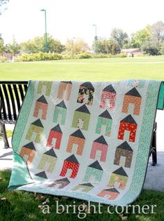 A Day at Home quilt with Fig Tree Fabrics.