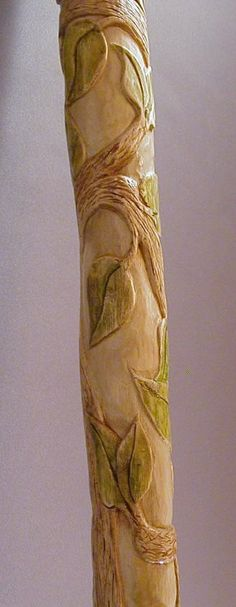 Hand Carved Cane Tree of Life Carved Root Cane by TerpStudio