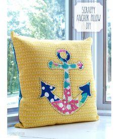 Tutorial: Scrappy anchor throw pillow