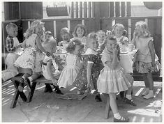 1950s Birthday Party - the way we truly were. We dressed up in our party best, look and acted like little ladies, because our mothers and grandmothers taught us (how).
