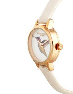 Shop Olivia Burton Cream Hummingbird Woodland Watch at ASOS. Olivia Burton, Wood Watch, Hummingbird, Woodland, Fashion Online, Watches, Cream, Accessories, Wooden Clock