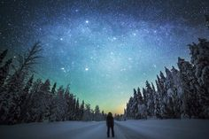 """Night walk"" by Tiina Tormanen."