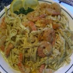 Peppered Shrimp Alfredo