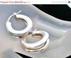 Spring Sale Sterling Silver Double Hoop by TheJewelryLadysStore, $27.20