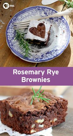 Rosemary Rye Brownies have a warm and earthy flavor.