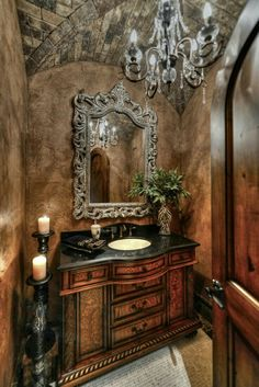 47 Affordable Small Powder Room Decor And Design Ideas. Gorgeous 47 Affordable Small Powder Room Decor And Design Ideas. What is the one room that outsiders and guests use most often? Of course it's the powder room. Shabby Chic Design, Baños Shabby Chic, Shabby Chic Homes, Dream Bathrooms, Beautiful Bathrooms, Master Bathrooms, Chic Bathrooms, Luxurious Bathrooms, Country Bathrooms