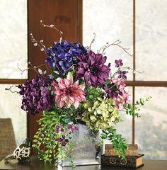 Hydrangea and dahlia