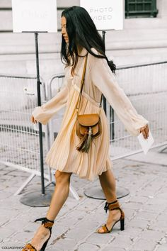 flounce and ankle strap sandals