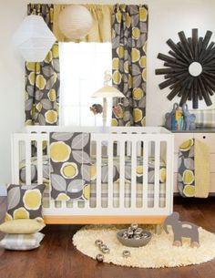 Brea 4 Pc. Crib Bedding Set by Glenna Jean - The Glenna Jean Brea collection is a splendid combination of stylish color, bold design and organic shapes are sure to please the most discriminating tastes.   The Glenna Jean Brea 4 piece crib bedding set includes a quilt, cream crib sheet, bumper and crib skirt.