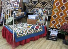 One of the booths at Quilt Market (sorry - was is Marcus my mind's a blur)?