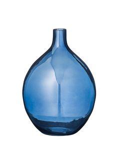 Vase Transparent blau von Bloomingville