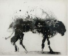 """Miquel Barcelo """"Animal mouillé Lanzarote 8"""", eau-forte et aquatinte, 1999."""