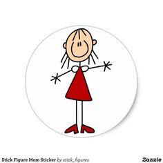 Stick Figure Mom Sticker