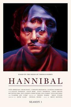'Hannibal - Season Poster by daysandhours Hannibal Season 1, Hannibal Series, Nbc Hannibal, Hannibal Lecter, Minimal Movie Posters, Film Posters, Hannibal Wallpaper, Scott Thompson, Will Graham Hannibal