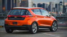 """The rumored Bolt concept car broke cover today in Detroit, Chevrolet's big bet on an all-electric sedan.  The car, a high-roofed hatch, promises """"more than"""" 200 miles on a charge at a price around..."""