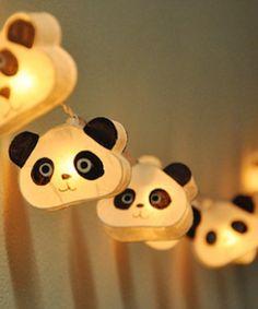 guirlande lumineuse panda ginew déco décoration accessoire chambre enfant bébé