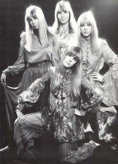 The Beatles Wives (and a spare): Cynthia Lennon, Maureen Starkey, Pattie and Jenny Boyd (Paul had no spouse at that time)