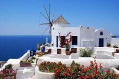 エーゲ海、サントリーニの白い家:輸入住宅の外観写真ブログ