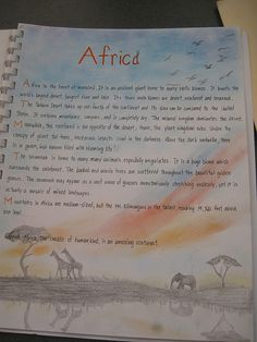Waldorf ~ 7th grade ~ Geography ~ Africa is the heart of mankind