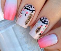 <3 dream catcher nail art <3