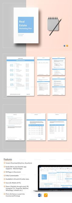 Real Estate Proposal Template High Quality  Printable Ready To