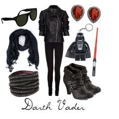 Darth Vader, created by character-inspired-style on Polyvore