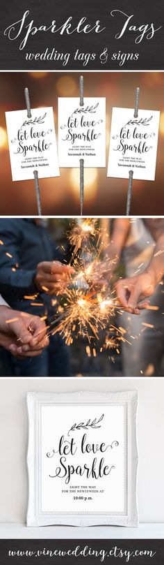 instant download sparkler tags and sign set
