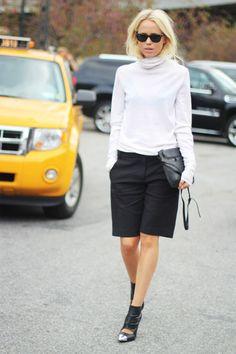 elin kling white turtleneck top street style