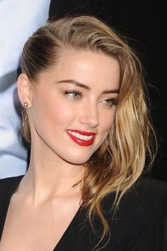The Hottest Long Hairstyles & Haircuts For 2014 - Amber Heard Long Hair Cuts, Long Hair Styles, Amber Heard Hot, Amber Head, Beauté Blonde, Celebs, Celebrities, Hairstyles Haircuts, Beautiful Eyes