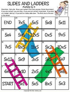 Chutes and ladders for multiplication and division! Or could use adding and subtracting too!: