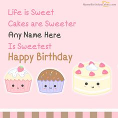 write name on Cakes Birthday Wish picture