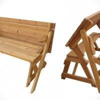 I want one of these!!! A Two-in-One Picnic Table and Garden Bench » Design You Trust