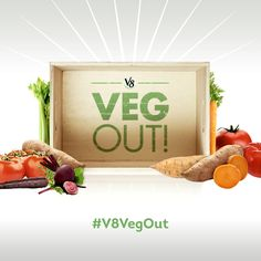 Join me in the V8 VegOut Challenge ~ Get your veggies every single day and have a little while doing it. Fun Challenges and Dares to keep you motivated.  #V8VegOut AD #V8 #VegetableJuice #juice