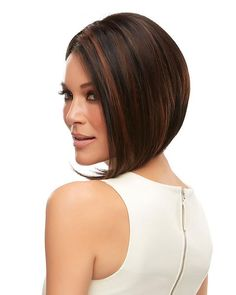 Sculpted with a symmetrical sweep, this angled bob arrests attention. The SmartLace hairline and invisible monofilament cap allow for easy styling.