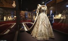 Sumptuous: The dress the Queen wore to take the throne.