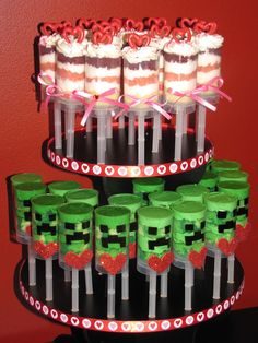 Cupcake Stand Ideas - Minecraft Push Pops